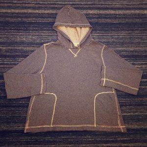J.CREW Nautical Stripe Pullover Hoodie - Sz: L